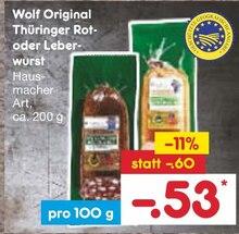 Wurst von Wolf im aktuellen Netto Marken-Discount Prospekt für 0.53€