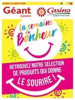 Catalogue Casino Supermarchés en cours, La semaine du bonheur, Page 1