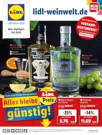 Aktueller Lidl Prospekt, Wein-Highlights Juli 2020, Seite 1