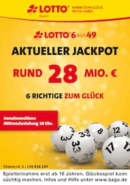 Aktueller LOTTO Bayern Prospekt, Aktueller Jackpot rund 28 Mio. €, Seite 1