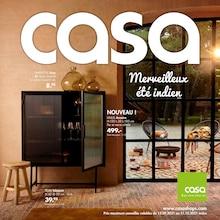 "Casa Catalogue ""Merveilleux été indien"", 28 pages, Méricourt,  12/09/2021 - 31/10/2021"