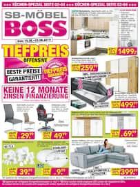 Aktueller SB Möbel Boss Prospekt, Tiefpreis Offensive, Seite 1
