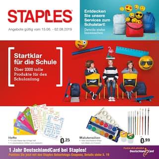 Aktueller Staples Prospekt, Startklar für die Schule, Seite 1