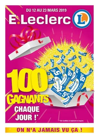 Catalogue E.Leclerc en cours, On n'a jamais vu ça !, Page 1