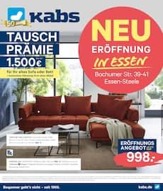 Aktueller Kabs Polsterwelt Prospekt, Neueröffnung in Essen, Seite 1