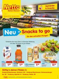 Aktueller Netto Marken-Discount Prospekt, Neu - Snacks to go für den schnellen Hunger!, Seite 1