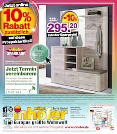 Aktueller Möbel Inhofer Prospekt, Jetzt online 10% Rabatt zusätzlich auf diese Prospektartikel und viele weitere!, Seite 10