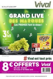 Catalogue Vival en cours, Le grand live des marques #Les promos font le show ! !, Page 1