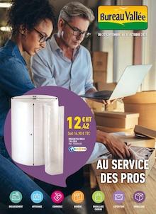 """Bureau Vallée Catalogue """"Au service des pros"""", 12 pages, Méricourt,  26/09/2021 - 30/10/2021"""