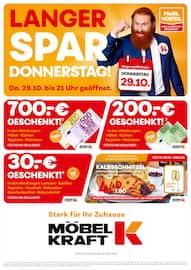 Aktueller Möbel Kraft Prospekt, Langer Donnerstag, Seite 1
