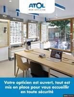 Catalogue Atol Mon Opticiens en cours, Votre opticien est ouvert, tout est mis en place pour vous accueillir en toute sécurité., Page 1