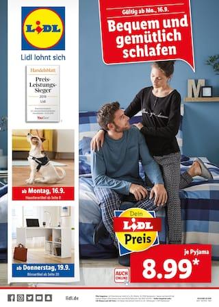 Aktueller Lidl Prospekt, Bequem und gemütlich schlafen, Seite 1