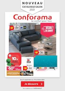 """Conforama Catalogue """"Salons & Séjours"""", 1 page, Sallanches,  20/09/2021 - 18/10/2021"""