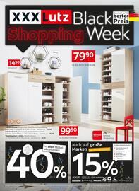 Aktueller XXXLutz Möbelhäuser Prospekt, Black Shopping Week, Seite 1