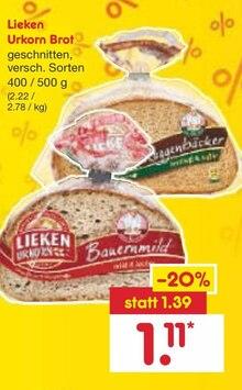 Backwaren von Lieken Urkorn im aktuellen Netto Marken-Discount Prospekt für 1.11€
