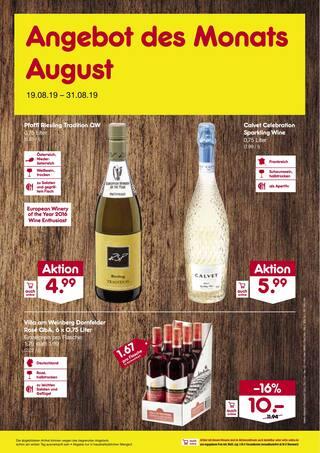 Aktueller Netto Marken-Discount Prospekt, Angebot des Monats August, Seite 1