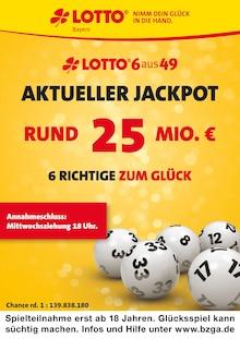 LOTTO Bayern, AKTUELLER JACKPOT RUND 25 MIO. € für Nürnberg