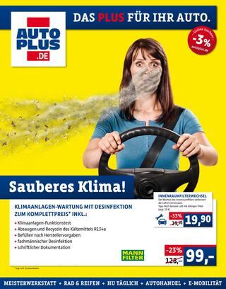 Aktueller AUTOPLUS Prospekt, Sauberes Klima!, Seite 1