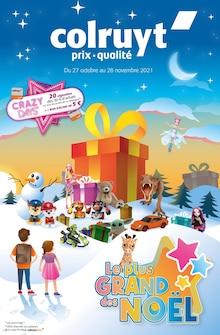 """Colruyt Catalogue """"Le plus GRAND des NOËL"""", 24 pages, Vermondans,  26/10/2021 - 28/11/2021"""