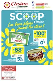 Catalogue Casino Supermarchés en cours, Les bons plans jouent les stars !, Page 1