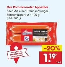 Wurst von Der Pommerander im aktuellen Netto Marken-Discount Prospekt für 1.19€