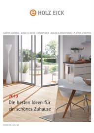 Aktueller Holz Eick Prospekt, Die besten Ideen für ein schönes Zuhause , Seite 1
