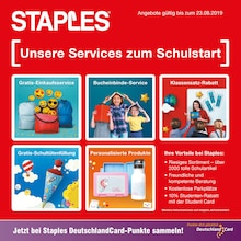 Staples, UNSERE SERVICES ZUM SCHULSTART für Essen