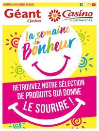 Catalogue Géant Casino en cours,  La semaine du bonheur, Page 1
