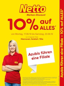 Netto Marken-Discount, AZUBIS FÜHREN EINE FILIALE – 10% AUF ALLES für Hannover