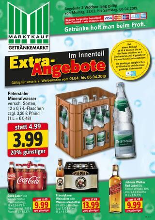 Aktueller Marktkauf Prospekt, Getränke holt man beim Profi., Seite 1