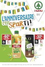 Catalogue Spar en cours, L'anniversaire c'est Sparti !, Page 1