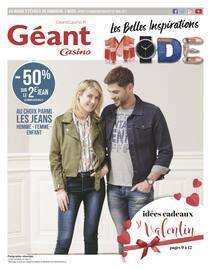 Catalogue Géant Casino en cours, Les belles inspirations MODE, Page 1