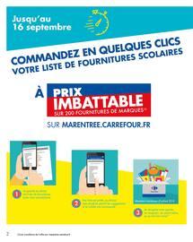 Catalogue Carrefour Market en cours, Le meilleur de la rentrée moins chère, Page 2