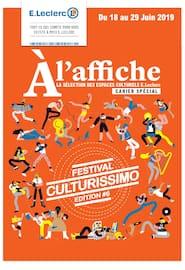 Catalogue E.Leclerc en cours, Festival Culturissimo édition #6, Page 1