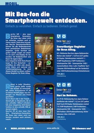 Aktueller aetka Prospekt, Mobil. Sicher. Smart. Das generationenübergreifende Technikmagazin., Seite 8