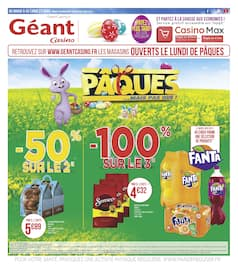 Catalogue Géant Casino en cours, Pâques … mais pas que !, Page 1