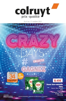 """Colruyt Catalogue """"Crazy days"""", 24 pages, Chaussan,  05/10/2021 - 17/10/2021"""