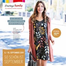 Aktueller Ernsting's family Prospekt, So schön ist September., Seite 1