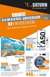 Aktueller Saturn Prospekt, Jetzt das Samsung-Universum entdecken!, Seite 1
