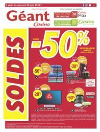 Catalogue Géant Casino en cours, SOLDES jusqu'à - 50%, Page 1