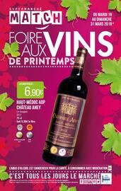 Catalogue Supermarchés Match en cours, Foire aux vins de printemps, Page 1