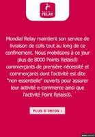Catalogue Mondial Relay en cours, Mondial Relay maintient son service, Page 1