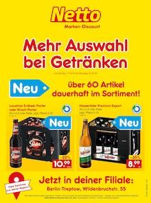 Der aktuelle Netto Marken-Discount Prospekt Mehr Auswahl  bei Getränken