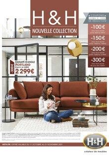 """H&H Catalogue """"Nouvelle Collection"""", 12 pages, Livry-Gargan,  10/10/2021 - 21/11/2021"""