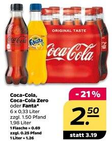 Cola von Coca-Cola, Coca-Cola Zero oder Fanta im aktuellen NETTO mit dem Scottie Prospekt für 0.69€