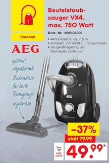 Zyklon Staubsauger von AEG im aktuellen Netto Marken-Discount Prospekt für 49.99€
