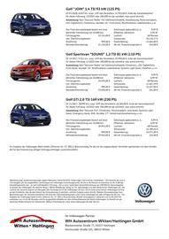Aktueller Volkswagen Prospekt, Die Jahreswagen von Volkswagen., Seite 2