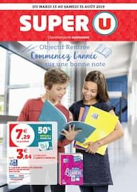 Catalogue Super U en cours, Objectif rentrée commencez l'année sur une bonne note, Page 1
