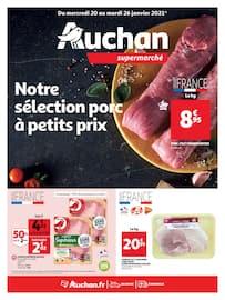 Catalogue Auchan en cours, Notre sélection porc à petits prix, Page 1