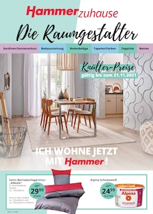 Hammer Prospekt für Halle (Westf.): Die Raumgestalter!, 16 Seiten, 26.10.2021 - 6.11.2021